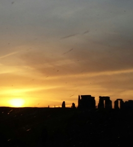 We are frequent visitors to Glastonbury. This is a picture that I took of Stonehenge one day, from the car,  on the way to Glasto.